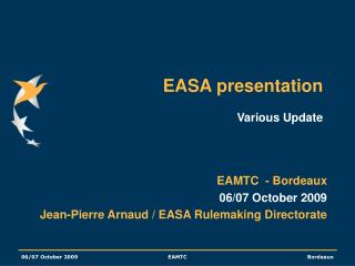 EASA presentation  Various Update