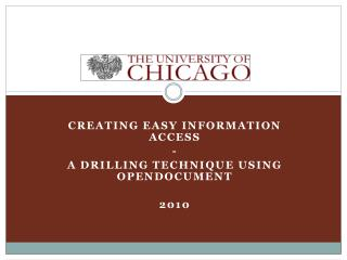Creating Easy Information Access - A drilling Technique using  Opendocument 2010