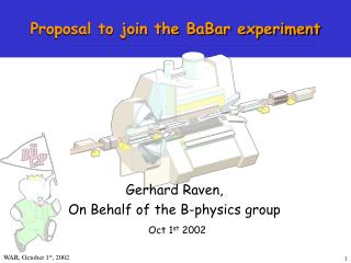 Proposal to join the BaBar experiment