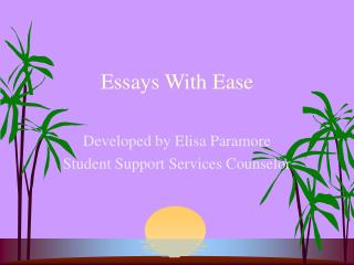 Essays With Ease