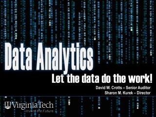Let the data do the work! !
