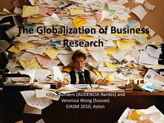 The Globalization of Business Research