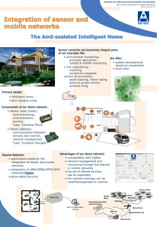 Integration of sensor and mobile networks