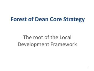 Forest of Dean Core Strategy