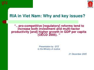 RIA in Viet Nam: Why and key issues?