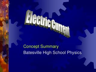 Concept Summary Batesville High School Physics