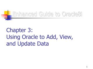 Enhanced Guide to Oracle8i