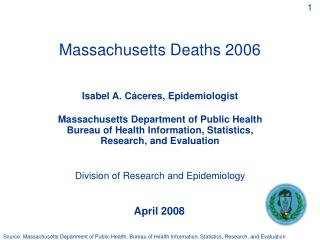 Massachusetts Deaths 2006
