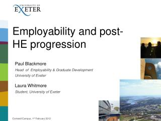 Employability and post-HE progression