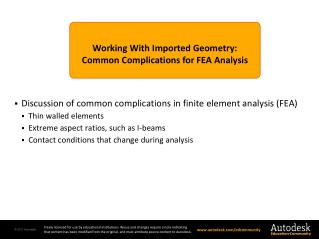 Working With Imported Geometry: Common Complications for FEA Analysis