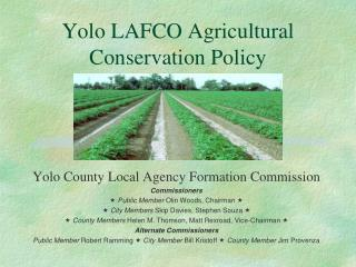 Yolo LAFCO Agricultural Conservation Policy