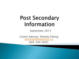 Post Secondary Information