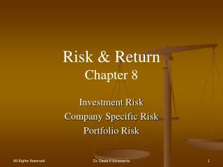 Risk & Return Chapter  8