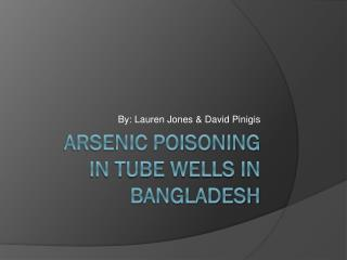 Arsenic Poisoning in tube wells in  bangladesh
