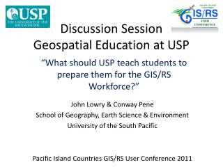 Discussion Session Geospatial Education at USP