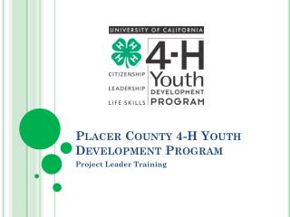 Placer County  4-H Youth Development Program