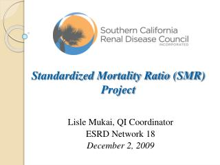 Standardized Mortality Ratio (SMR) Project