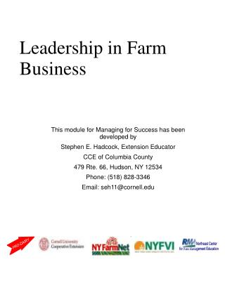 Leadership in Farm Business