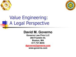 Value Engineering: A Legal Perspective