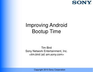 Improving Android Bootup Time