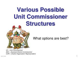 Various Possible Unit Commissioner Structures