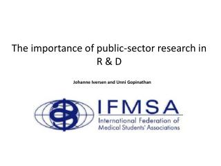 The importance of public-sector research in R & D