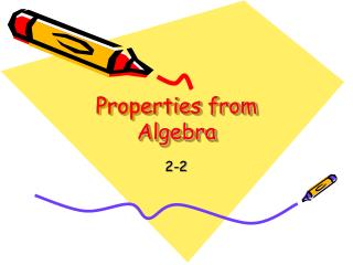 Properties from Algebra