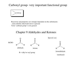 Carbonyl group- very important functional group
