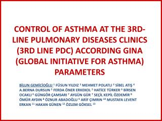 1 Pulmonary Diseases, Istanbul University, Cerrahpasa Faculty of Medicine, Istanbul,