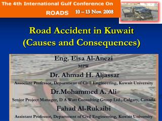 Road Accident in Kuwait (Causes and Consequences)