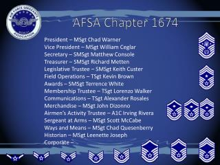 AFSA Chapter 1674