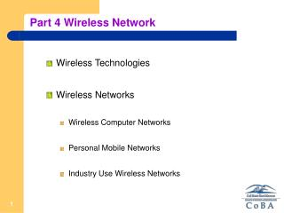 Part 4 Wireless Network