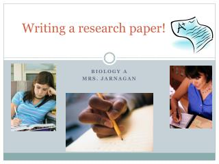 Writing a research paper!
