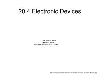 20.4 Electronic Devices
