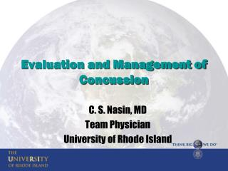 Evaluation and Management of Concussion