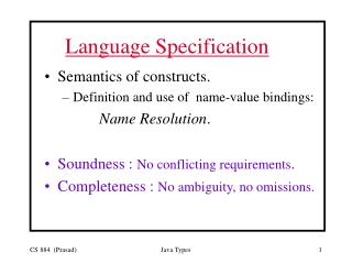 Language Specification