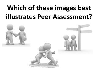 Which of these images best illustrates Peer Assessment?