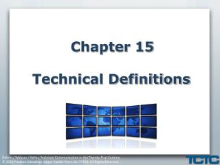 Chapter 15 Technical Definitions
