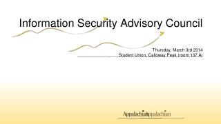Information Security Advisory Council