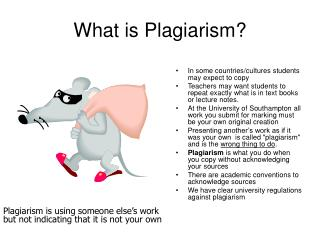 What is Plagiarism?