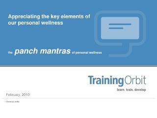 Panch Mantras of Personal Wellness