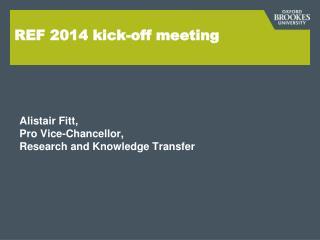 REF 2014 kick-off meeting