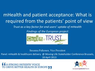 mHealth and patient acceptance: What is required from the patients' point of view
