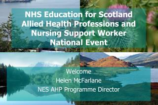 NHS Education for Scotland Allied Health Professions and Nursing Support Worker National Event