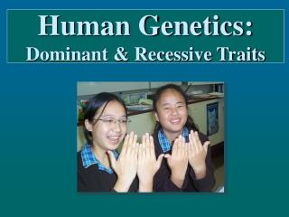 Human Genetics: Dominant & Recessive Traits