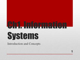 Ch1. Information Systems