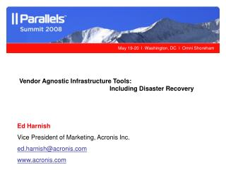 Vendor Agnostic Infrastructure Tools: Including Disaster Recovery