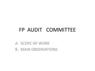 FP  AUDIT   COMMITTEE