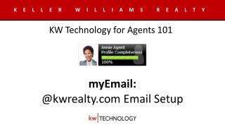myEmail : @kwrealty Email Setup