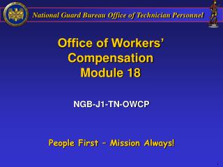 Office of Workers' Compensation Module 18